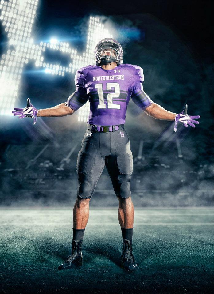 hot sale online bb678 72b98 Under Armour Unveils New Northwestern Football Uniforms ...