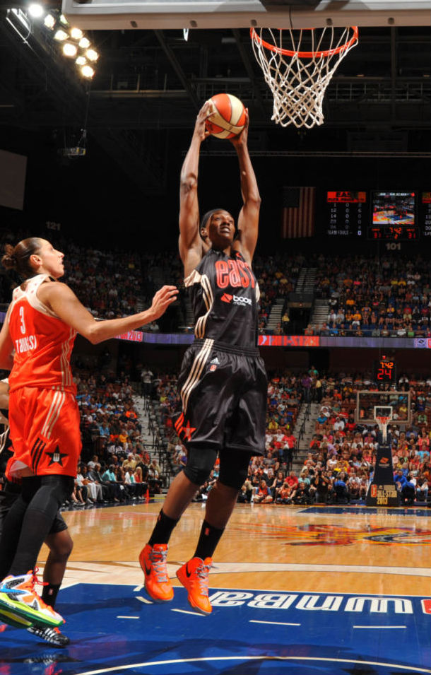 Sylvia Fowles wearing Nike Hyperfuse 2012 All-Star PE