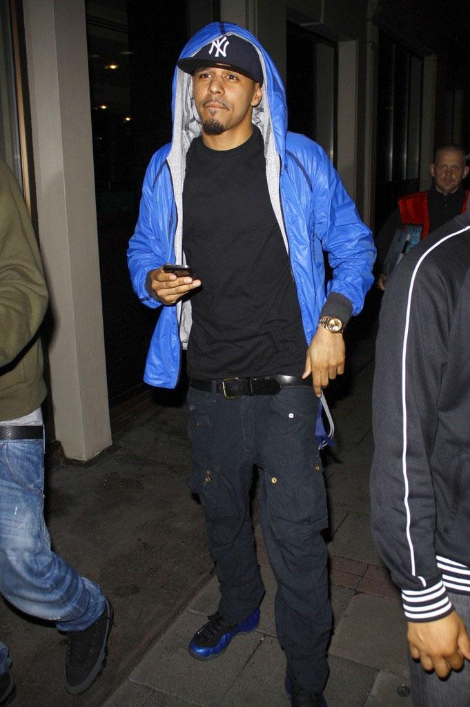 J Cole In Jordans J. Cole Wears N...
