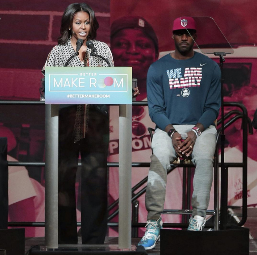 LeBron Michelle Obama