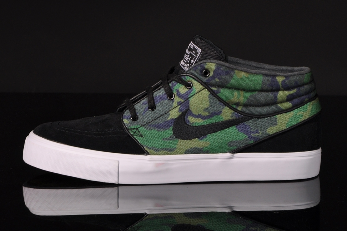 online store b0b9f d76a1 Nike SB Zoom Stefan Janoski Mid -  Iguana Camo . Nike Skateboarding  continues to lead the ...