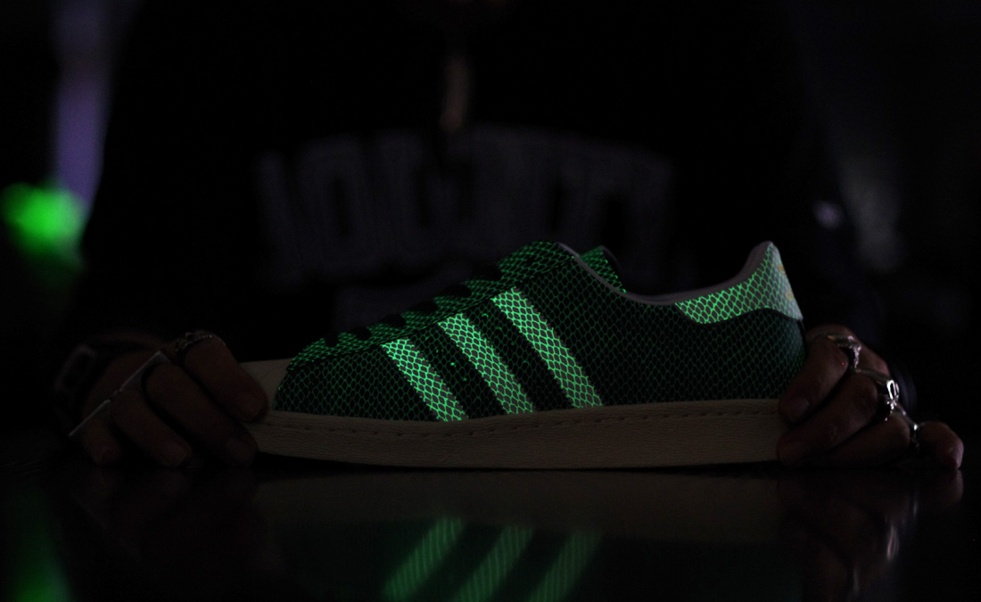 atmos x adidas originals superstar 80s gsnk6 glow-in-the-dark