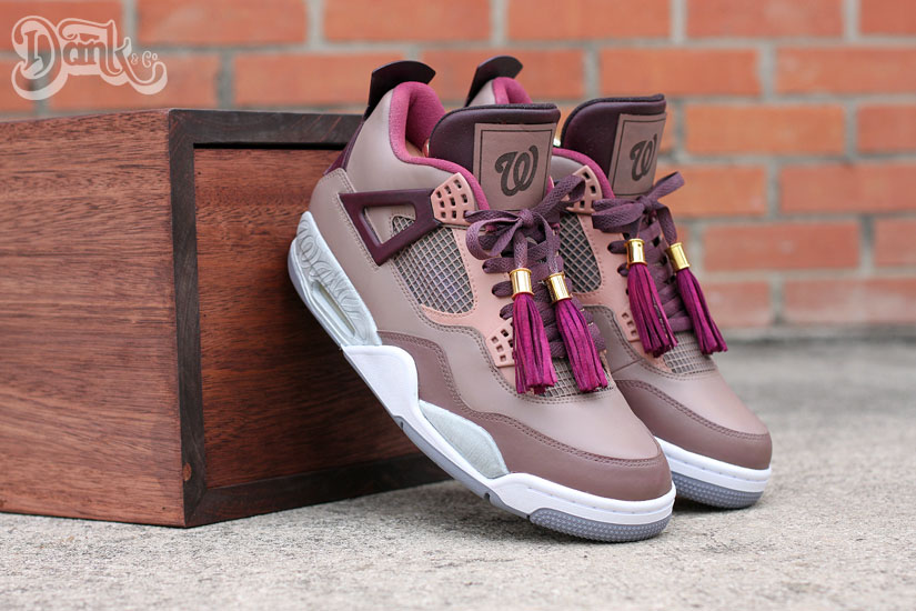Air Jordan IV 4 Louis Vuitton Don for Wale by Dank Customs (2)