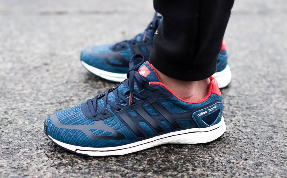 Adidas Boost White Red Blue