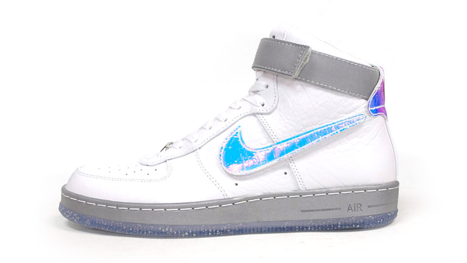 Nike Air Force 1 Downtown Hi LW QS in White hologram profile