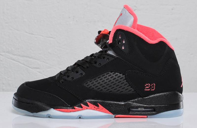air jordan retro 5 red and black