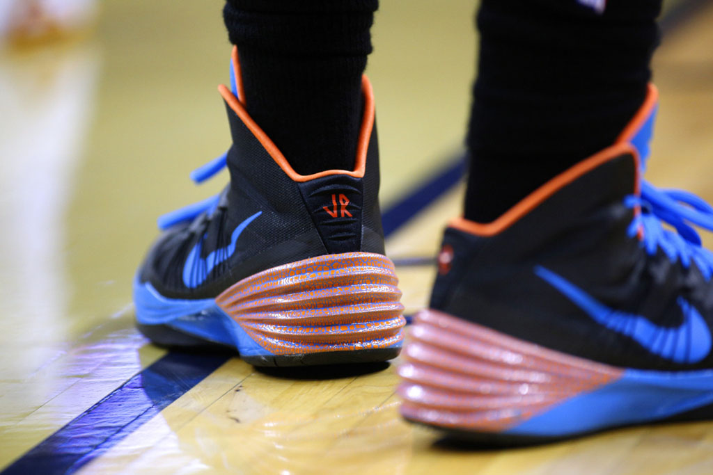 J.R. Smith wearing Nike Hyperdunk 2013 PE