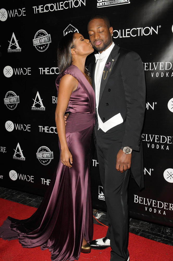 Dwyane Wade & Gabrielle Union at 30th Birthday Party