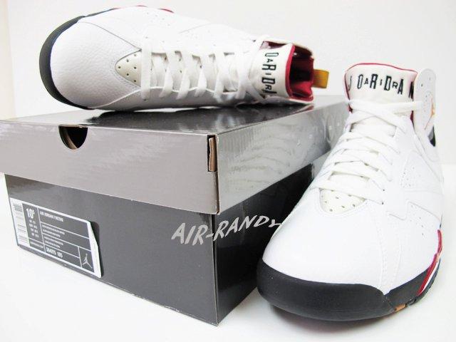 168bdbd495eb Air Jordan Retro 7 White Bronze Cardinal Red Black 304775-104