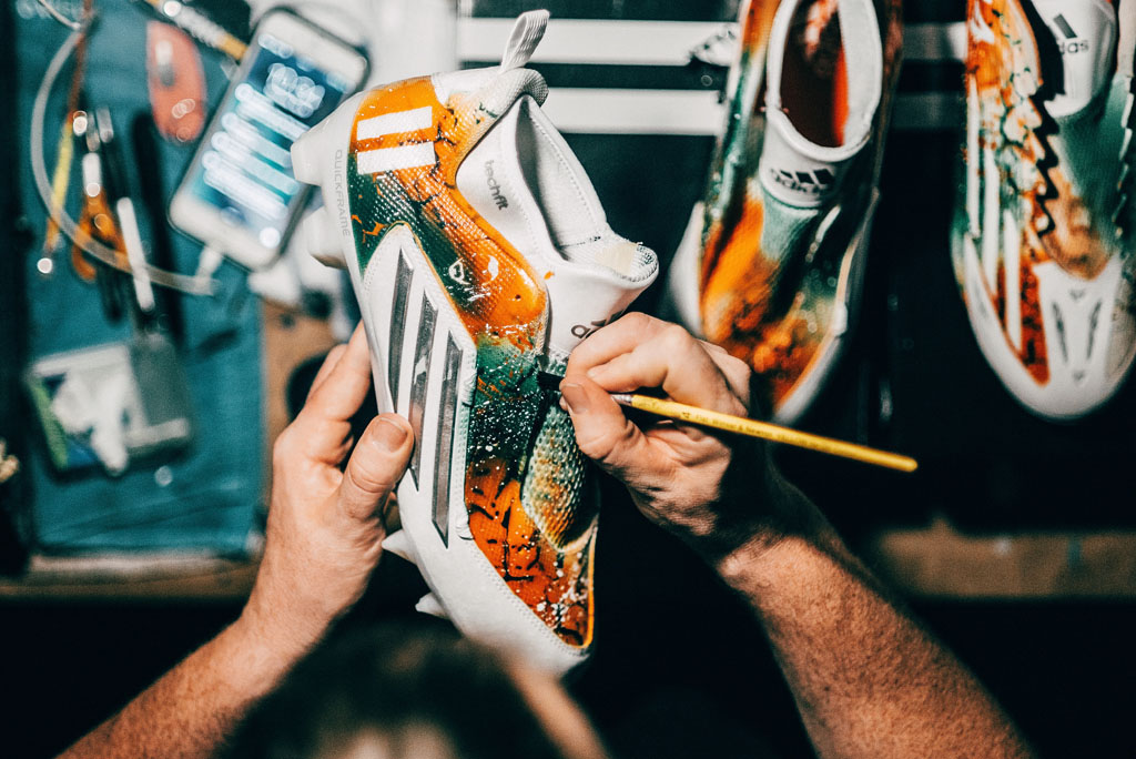 Miami Hurricanes Custom Cleats Soles by Sir Marcus Rivero Interview (3)