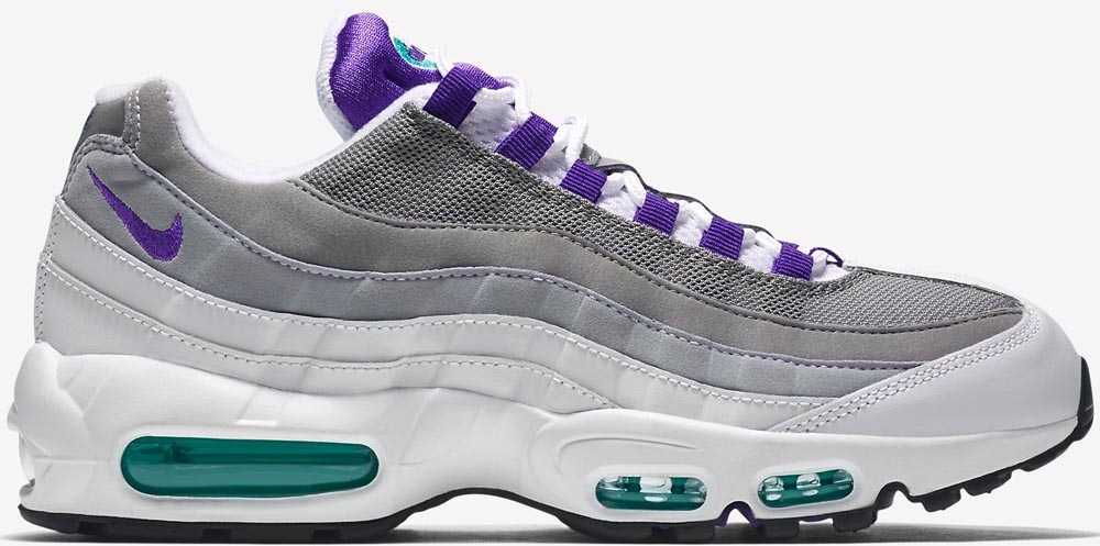Nike Air Max '95 OG White/Court Purple-Emerald Green-Wolf Grey