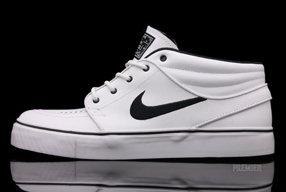 Nike Sb Zoom Stefan Janoski Mid White Black For Sale