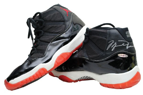 de08b9fc1fc Michael Jordan s Game-Worn  Bred  11 from 1996 Finals Sells for ...