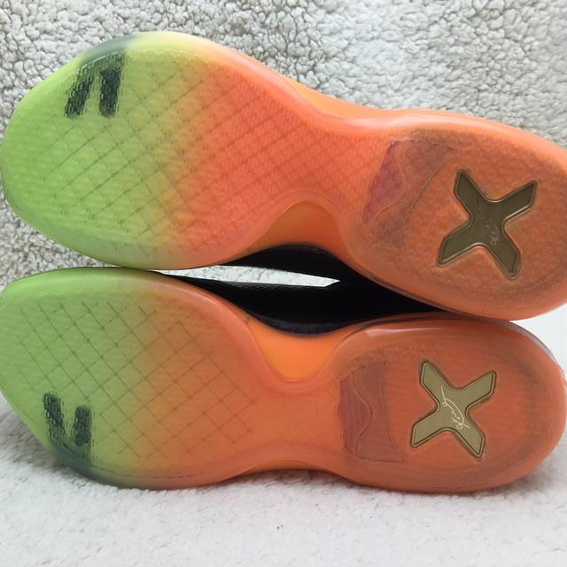 8f60a11f9890 Nike Kobe X 10 All-Star Black Silver-Orange-Volt (19