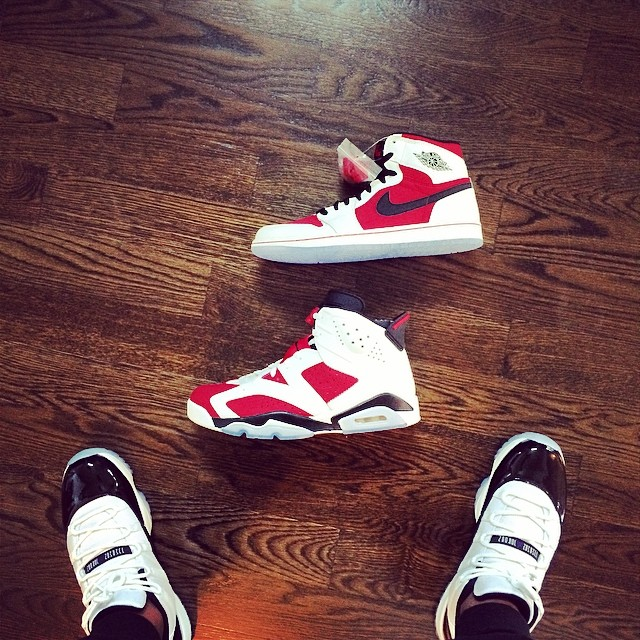 Victor Cruz Picks Up Air Jordan 1 & 6 Carmine