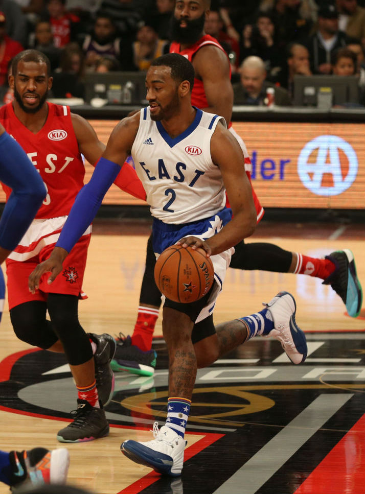 hot sale online 6f442 b7fe6 John Wall Wearing the  French Blue  Air Jordan 12 (1) via NBAE 2016 ...