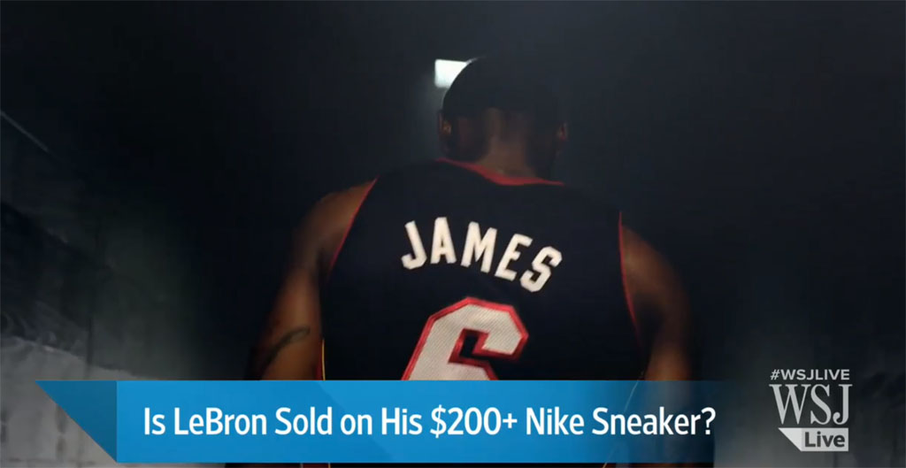Wall Street Journal: Is LeBron James Sold on His New Nike Sneaker?