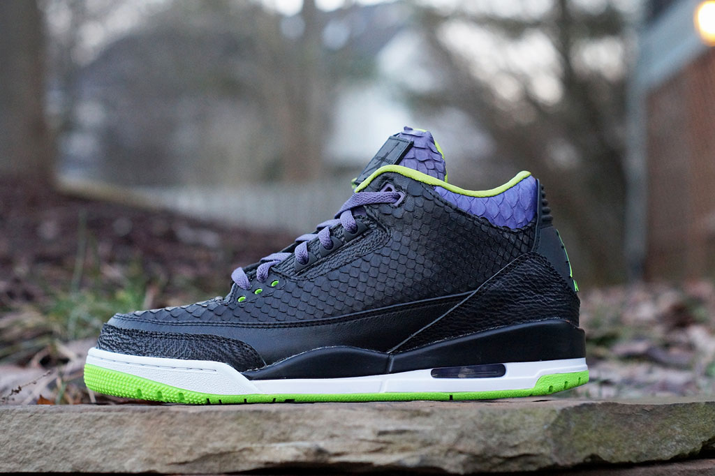 Air Jordan 3 Shark + Python + Kangaroo 'Joker' by JBF Customs (1)