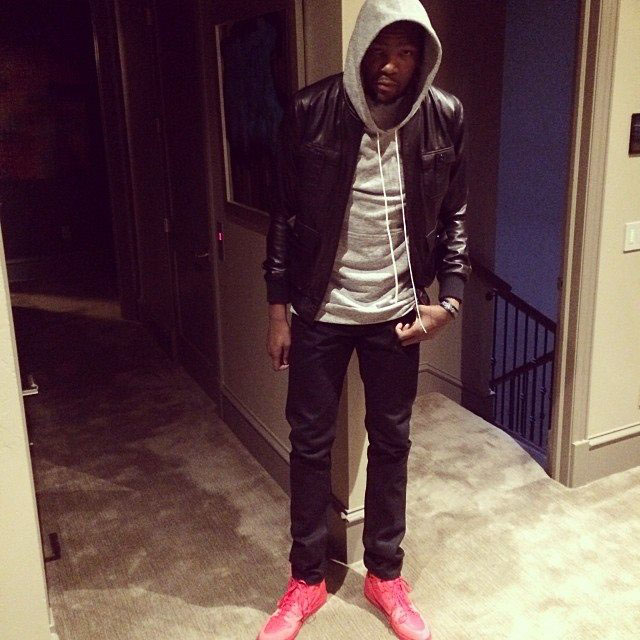 Kevin Durant wearing Balenciaga Pleated High-Top Sneakers