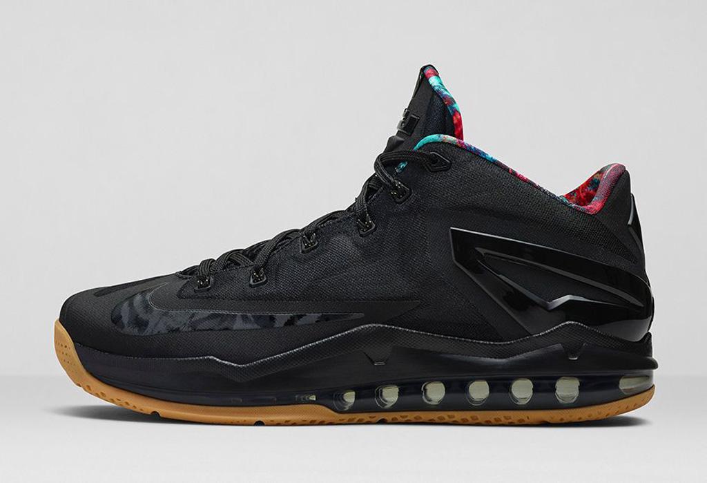 614222c46e64 An Official Look At The Nike LeBron 11 Low In Black Hyper Crimson-Hyper  Cobalt