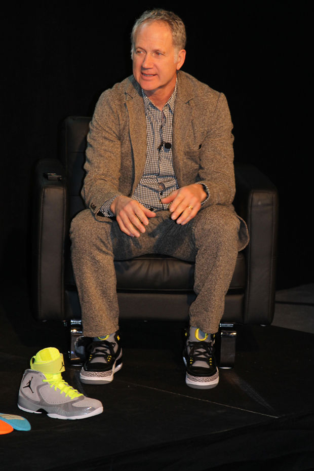 b361ca1faf1f Tinker Hatfield wearing Air Jordan III 3 Retro Oregon Ducks Away
