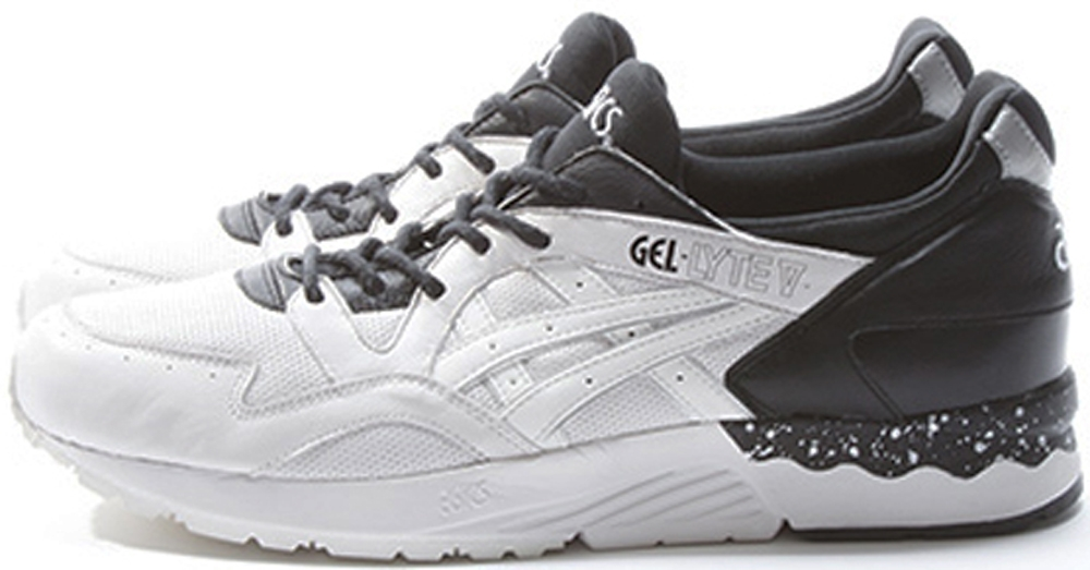 asics gel lyte v white black