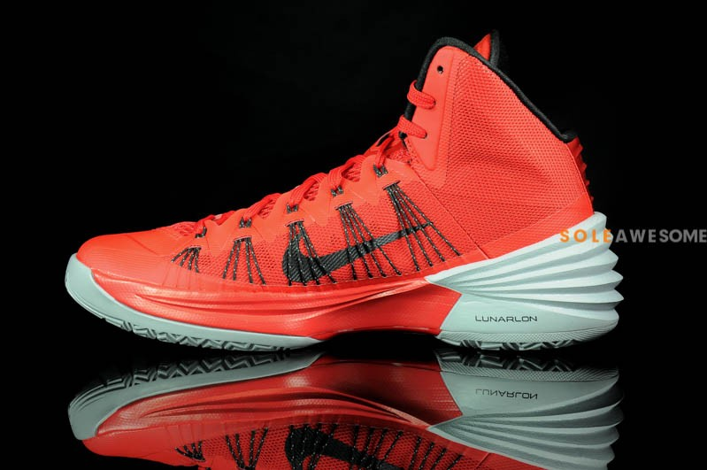 2013 hyperdunks yellow all red lebron james shoes