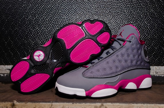 Air Jordan 13 Retro GS - Cool Grey Atomic Pink  64480afbf5a1