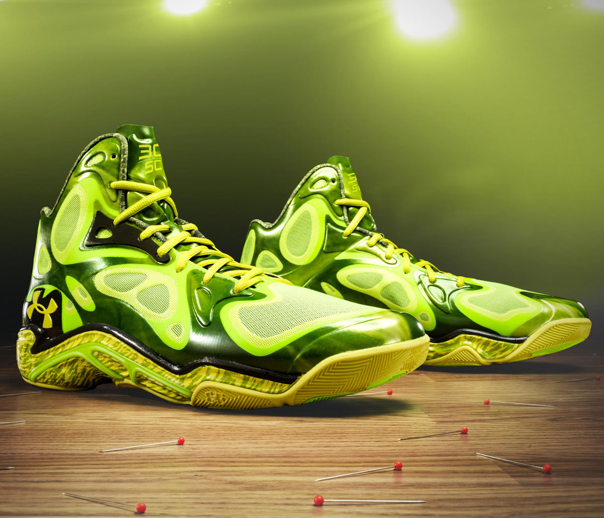 Stephen Curry's Green Light Under Armour Anatomix Spawn PE
