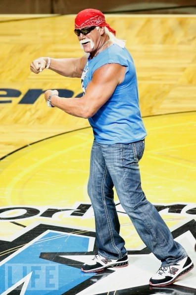 Hulk Hogan wearing the New Balance 8574