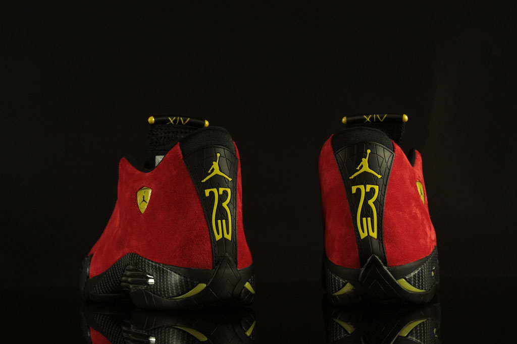 Air Jordan XIV 14 Ferrari Red Suede 654459-670 (8)