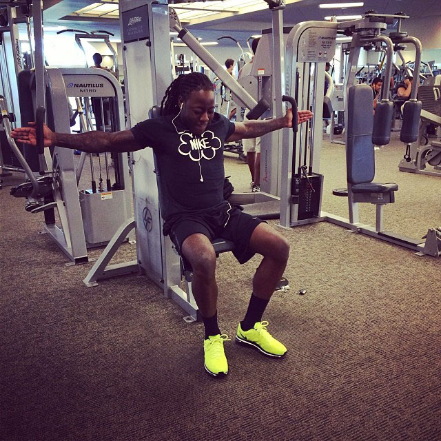 Ace Hood wearing Nike Air Max 2012 Volt
