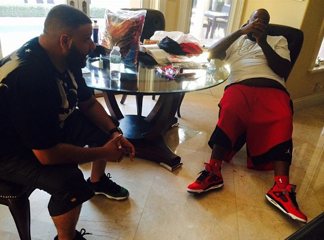 Rick Ross wearing Air Jordan IV 4 Toro