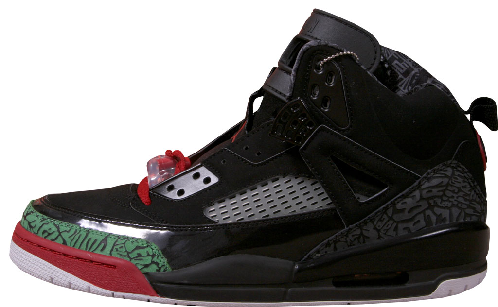 best website b0fdc 52f16 Jordan Spiz ike 315371-061 Black Varsity Red-Classic Green
