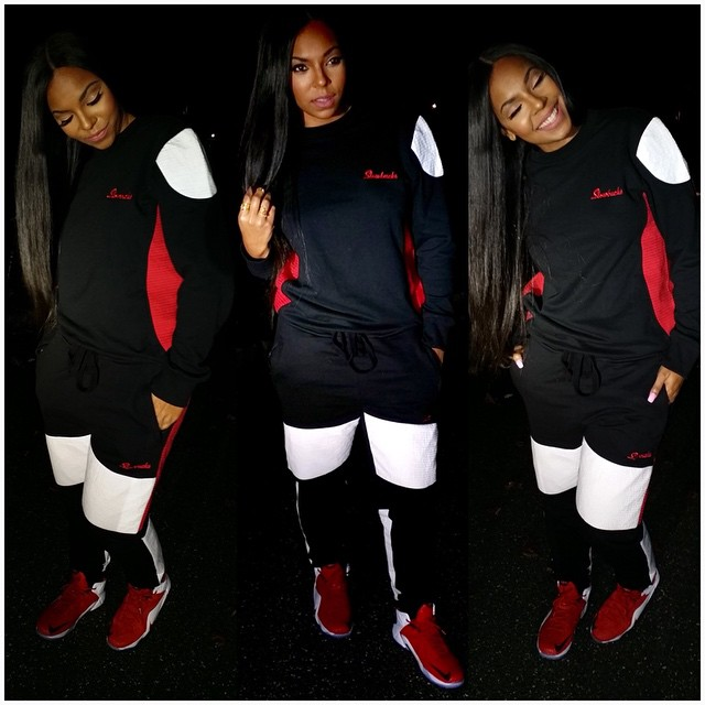 Ashanti wearing Nike LeBron XII 12 Heart of a Lion