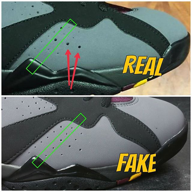 Next To Real Retro S Fake Retro S: How To Tell If Your 'Bordeaux' Air Jordan 7s Are Real Or Fake