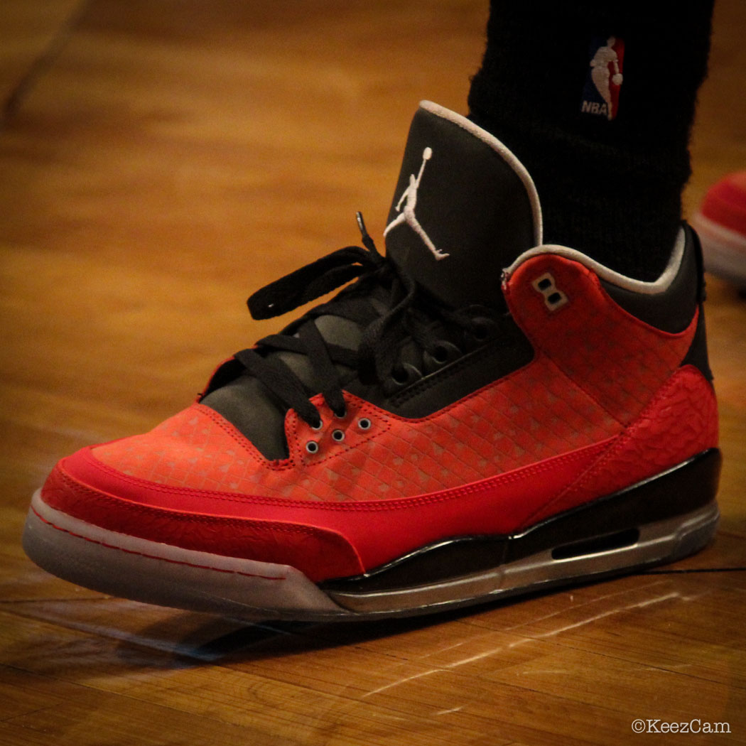 DeMar DeRozan wearing Air Jordan 3 Retro Doernbecher