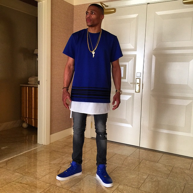 Russell Westbrook Wears His New Jordan Signature Shoe In Royal Blue Sole Collector