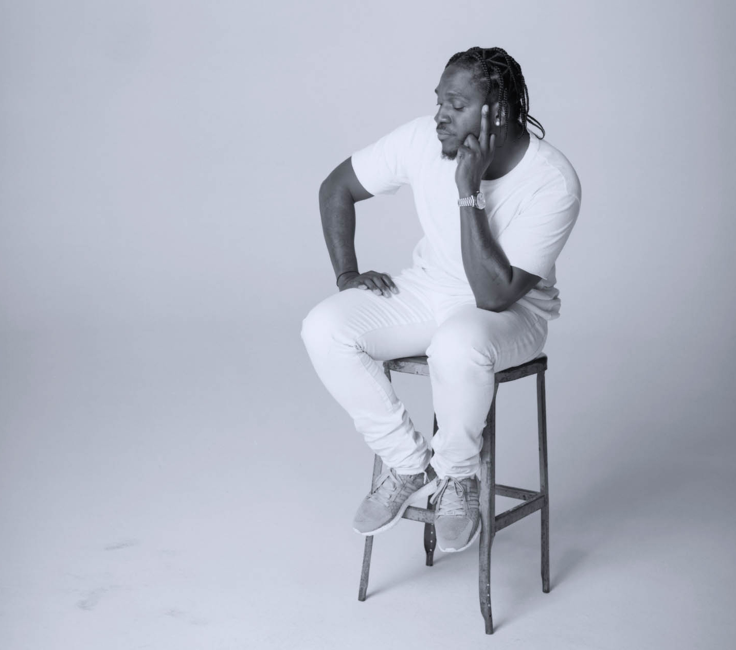 Pusha T Wearing Adidas