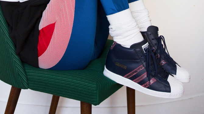 7a72f9d7bd4a The classic adidas Originals Superstar silhouette gets a wedge remix.