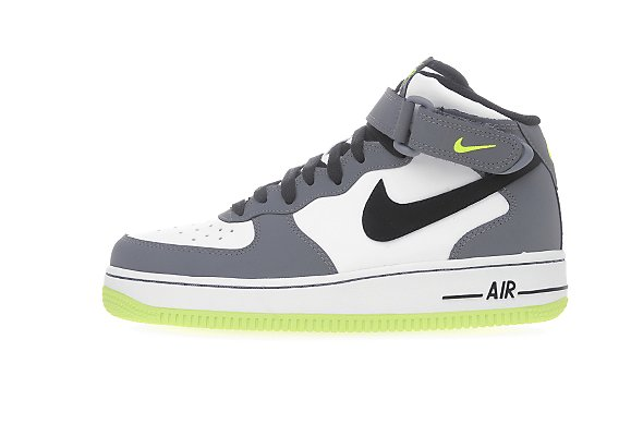 Nike Air Force 1 Mid GS WhiteGrey Volt | Sole Collector