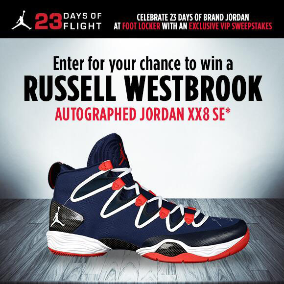 Win Russell Westbrook's Autographed Air Jordan 28 SE from Foot Locker