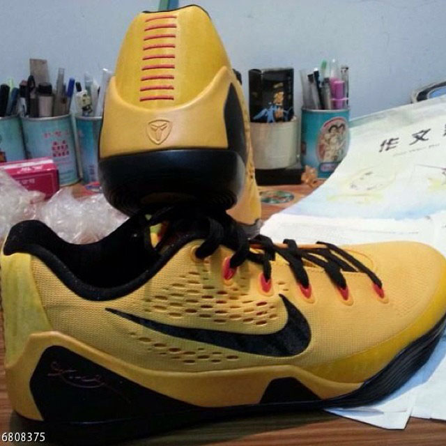 quality design 88c5f 2750b Nike Kobe IX 9 EM Gold Crimson Black Bruce Lee 646701-700 (1)