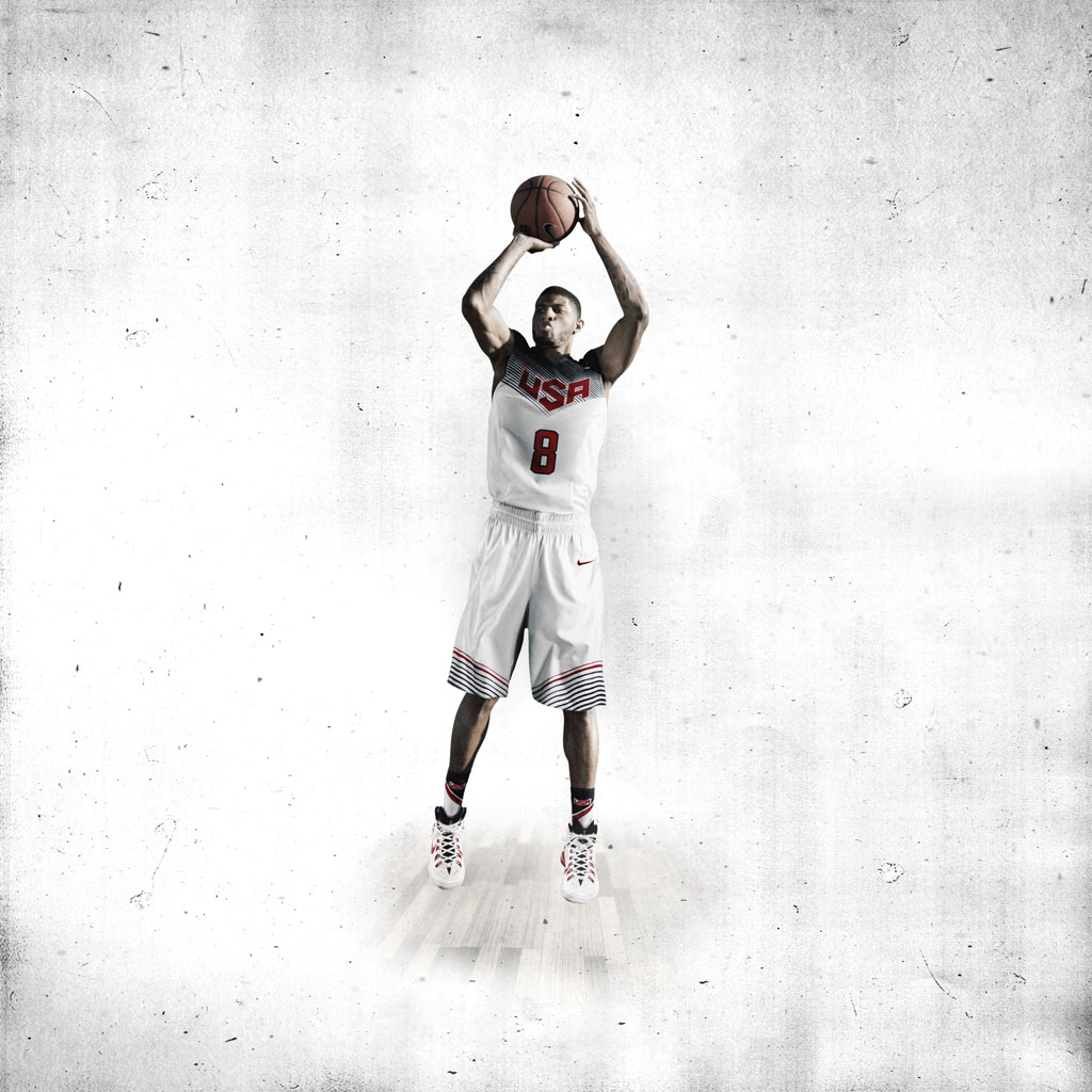Nike Basketball Unveils 2014 USA Basketball Uniforms - Paul George (2)