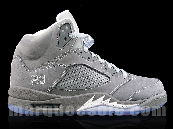 new product ec035 73a09 Air Jordan Retro 5 - Light Graphite White-Wolf Grey - New Images
