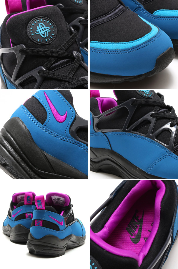 arrives 6dce9 a2201 Nike Air Huarache Light Color BlackVivid Purple-Blue-Anthracite Style   725156-003