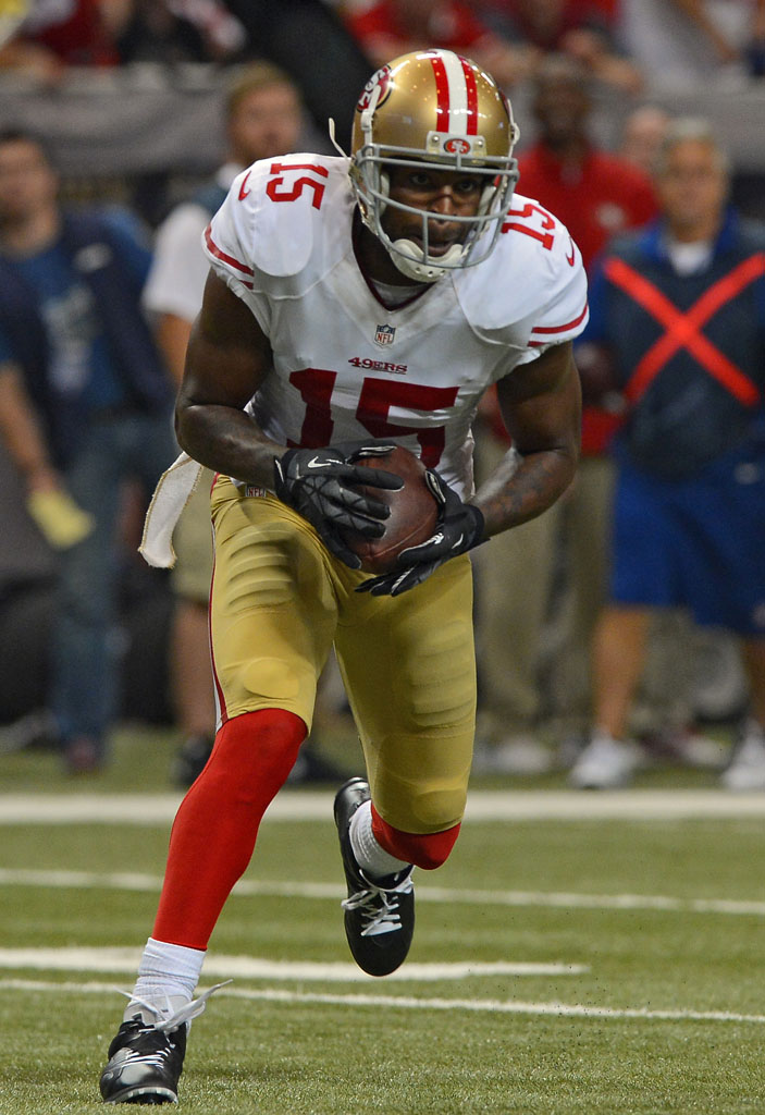ccacde08143 ... where can i buy michael crabtree wearing air jordan vi 6 black cleats 1  83805 e402f