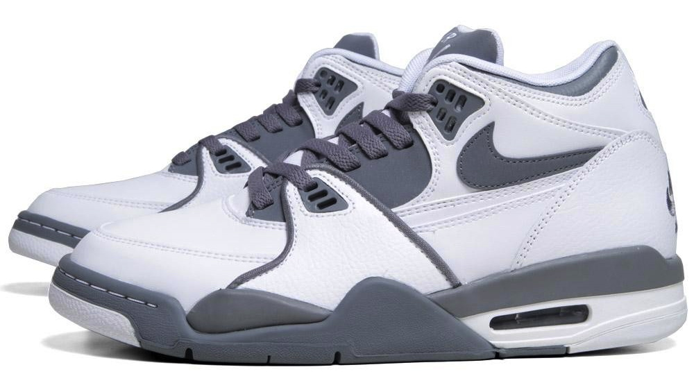 more photos 79b2f 08ca9 The Nike Flight 89 in White   Cool Grey is available now at End Clothing.