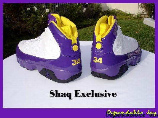 Air Jordan IX 9 Shaquille O'Neal Shaq Lakers Home PE (2)