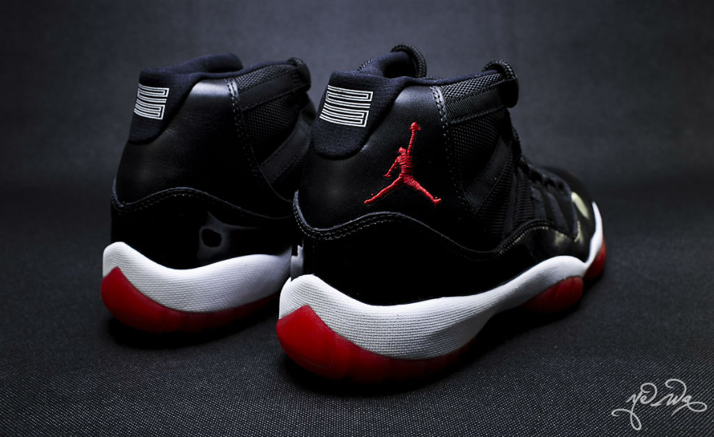 Air Jordan XI 11 Black Red 378037-010 (5)